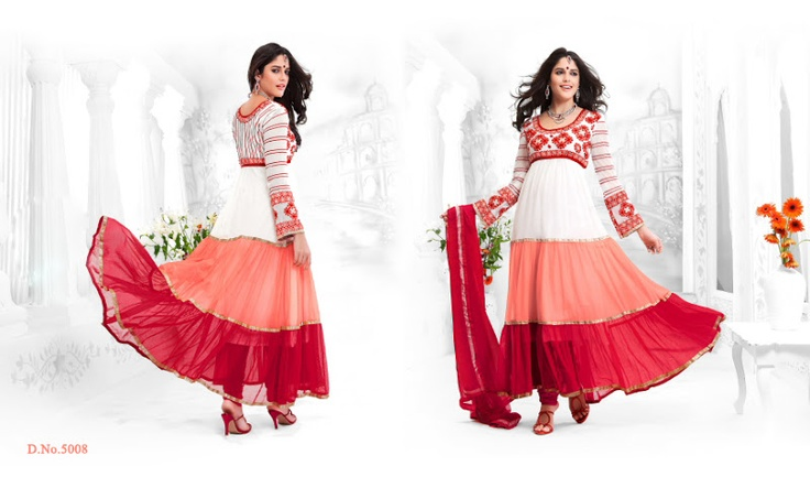Hand Embroidery latest fashion hottest styles 2013 anarkali suits