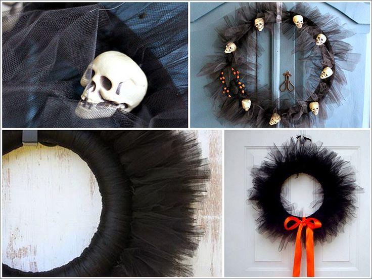 Resultado de imagen de coronas tul halloween