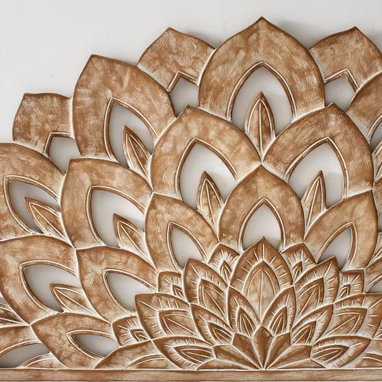 Wood Carved Faux Headboard #pbteen