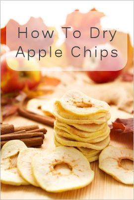Dry apple chips in the oven