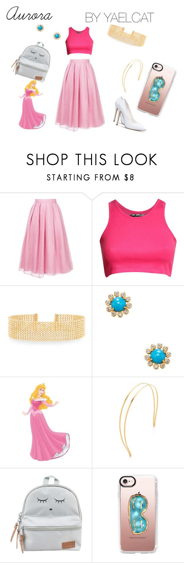 """""""Aurora (Sleeping Beauty)"""" by yaelcat ❤ liked on Polyvore featuring Jupe By Jackie, Pilot, Lydell NYC, ADORNIA, WALL, Mrs. President & Co., Casetify, sleepingbeauty, aurora and disneybound"""