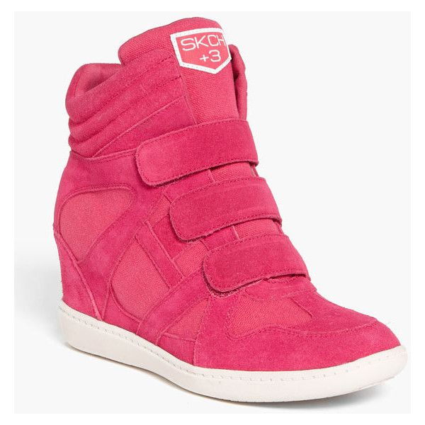 i don't do pink really, but i cld make an exception.  Skechers 'plus 3 Raise The Bar' Wedge Sneaker (Women) found on Polyvore