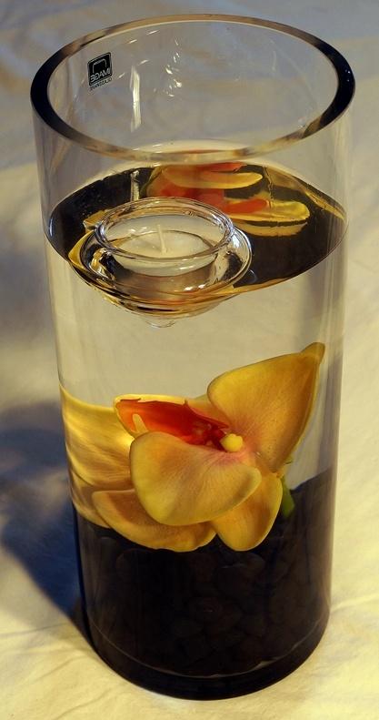 Black with Orange + Floating Candle