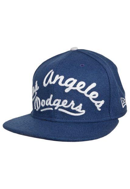 Boné New Era 950 Arch V Script Los Angeles Dodgers Azul - Compre Agora   Dafiti Brasil