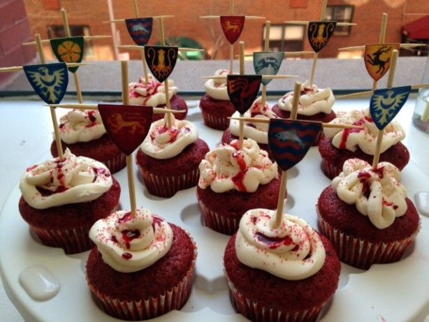 Make and share this Game of Thrones Red Velvet Cupcakes With Cream Cheese Frosting recipe from Food.com.