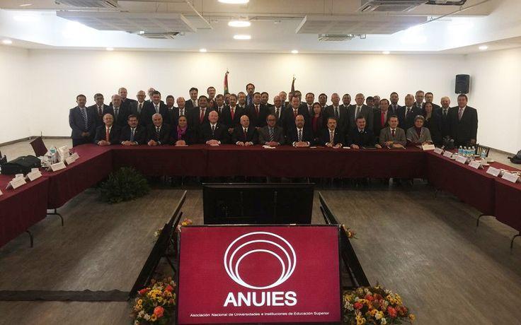 Rectores de las universidades públicas adheridas a la ANUIES, entre ellas la UMSNH, se reúnen con el secretario de Educación Pública, Otto Granados Roldán – Ciudad de México, 06 de ...