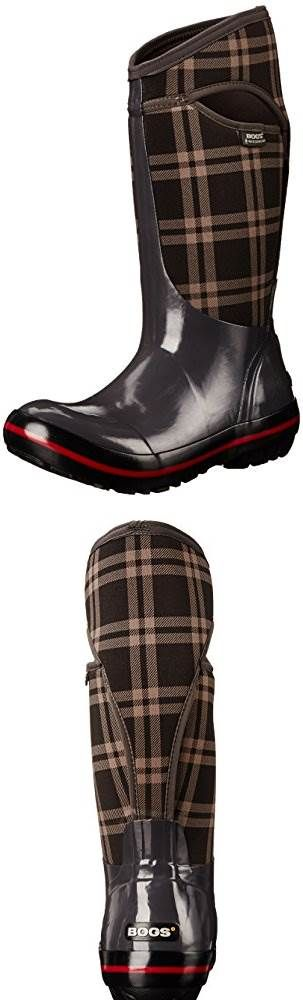 Bogs Womens Plimsoll Plaid Tall Waterproof Insulated Boot #Shoes