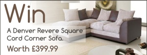 April Competition to Enter - Win A Corner Sofa