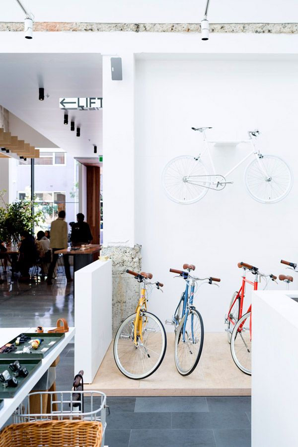 Another of Paramount House's super stylish tenants, Tokyo Bike, occupying an open plan space alongside Paramount Coffee Project.  Photo - Phu Tang