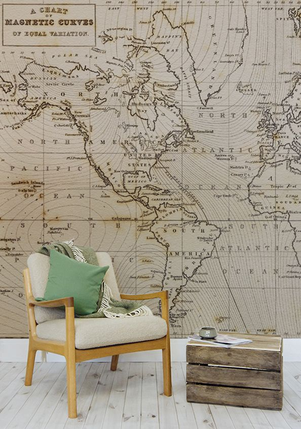 57 best world map wallpaper images on pinterest world maps bring a classical feel to your interiors with this map wallpaper mural with a distinctive sciox Images