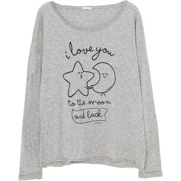Oysho Mr Wonderful revolucionan nuestros pijamas ❤ liked on Polyvore featuring tops, pijamas, blusas, sweaters and oysho