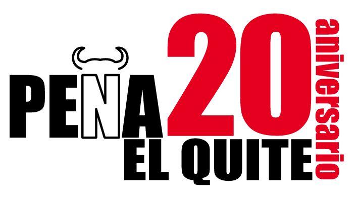 Logo 20 aniversario, peña El Quite.
