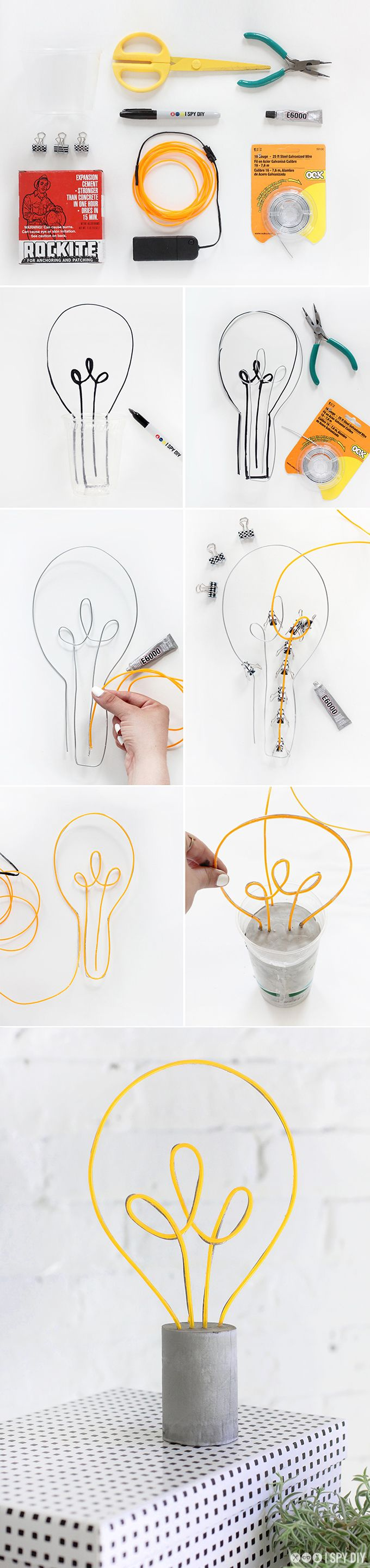 MY DIY | Neon Lightbulb Lamp | I SPY DIY