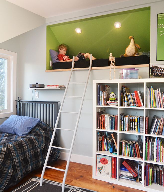 A reading loft carved out of the attic space ... For Sebastian's room?