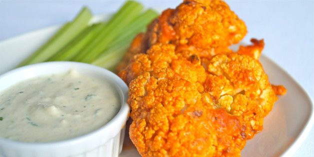 Cauliflower Buffalo 'Wings' Will Wow Your Party Guests gluten free dairy free vegan
