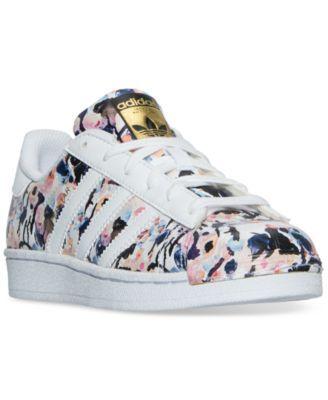 adidas Big Girls' Superstar Casual Sneakers from Finish Line | macys.com