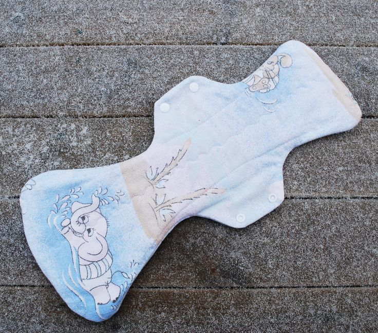 17 inch heavy flow cloth pad - postpartum cloth pad - cloth menstrual pad - mama pad - upcycled cloth pad for heavy flow - overnight pad by leonorafi on Etsy