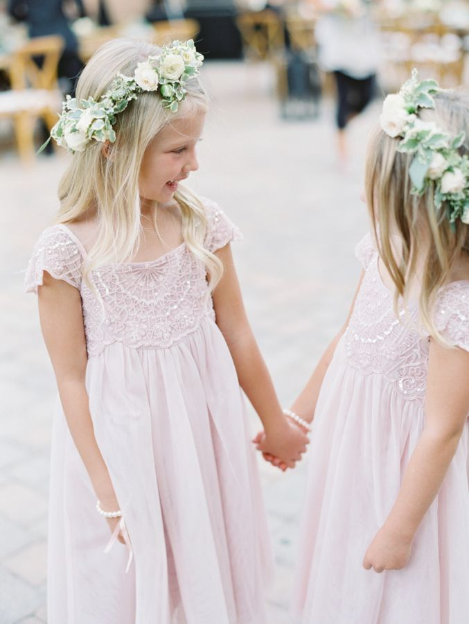 The most adorable little flower girls in blush: http://www.stylemepretty.com/little-black-book-blog/2016/03/22/this-brides-impeccable-memory-inspired-this-romantic-wedding/ | Photography: Diana McGregor - http://www.dianamcgregor.com/