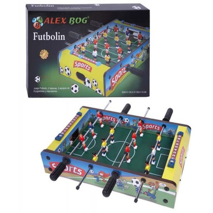 Futbolín de sobremesa.  http://www.cosaspararegalar.es/ideas-para-regalar/juegos-de-mesa/futbolin-sobremesa.html
