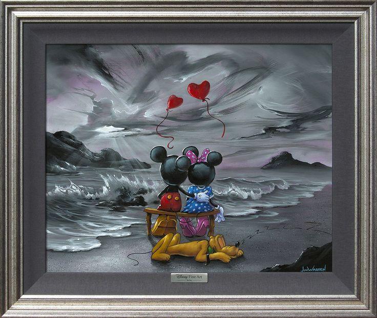 Mickey Mouse - Mickey and Minnie Forever Love - Jim Warren - World-Wide-Art.com - #disney #disneyfineart #silverseries #jimwarren #mickeymouse #minniemouse