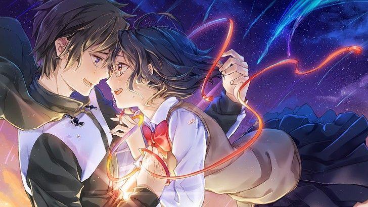 Your Name. Mitsuha and Taki Anime Crying Wallpaper Anime