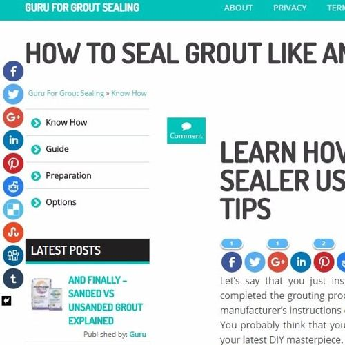 http://guruforgroutsealing.com/how-to-apply-grout-sealer/  Sit back and relax while I explain what's the best way to go when it comes to sealing tile grout. This is a crucial step you need to take if you want to have a long lasting, maintenance-free tile flooring.