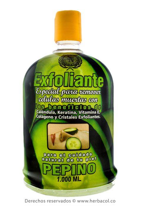 exfoliante pepino para remover celulas muertas