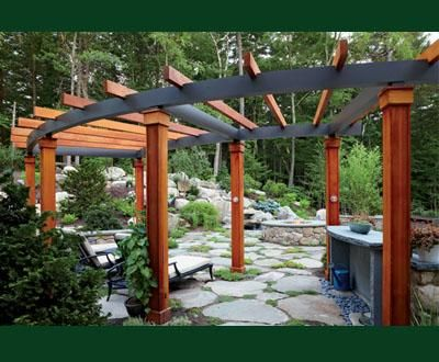 custom combination cedar and cellular pvc pergola wood pergolas solid cellular pvc pergolas. Black Bedroom Furniture Sets. Home Design Ideas