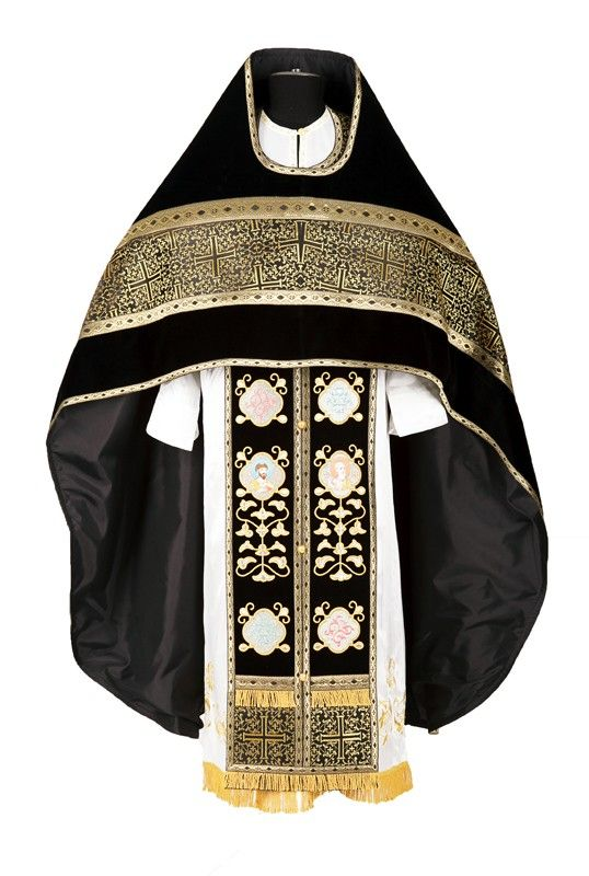 Russian Style Priest Vestment Fabric: brocade, velvet. Includes six items: zone, cuffs, phelonion, epitrachelion, epigonation, and nabedrennik. http://catalog.obitel-minsk.com/sh-11-176-vestment.html#!prettyPhoto #Orthodox #Orthodoxy #Priest #Vestments #Russian-Style #Church #Handmade #Delivery #Order