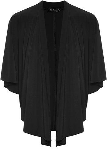 Liz Jordan Ruffle Shrug $99.95 AUD  Batwing ruffle front edge to edge shrug 94% Polyester 6% Elastane  Item Code: 046481