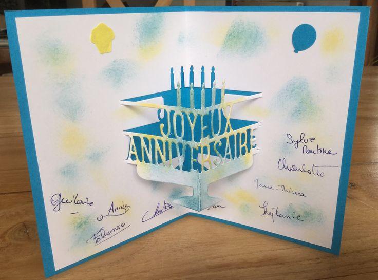 Et magnifique carte d'anniversaire conçue et réalisée par Fabienne !