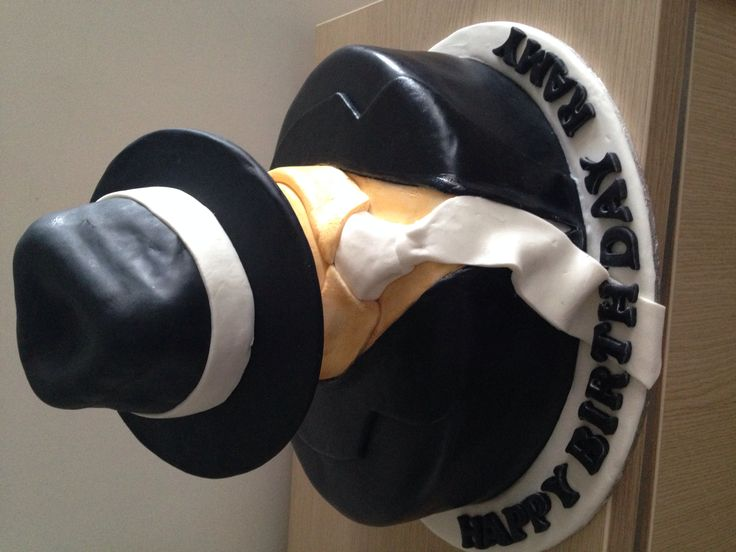 Suit Cake with a hat