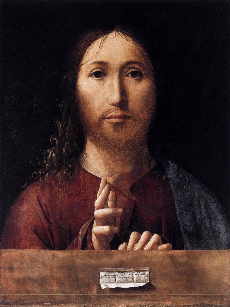 Antonello da Messina: salvator mundi