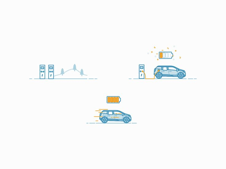 Electric charging station - icons by Michal Kulesza