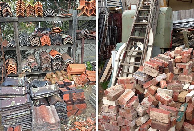 Secondhand bricks and roof tiles, GHG Home & Building Recycling, Preston, Melbourne
