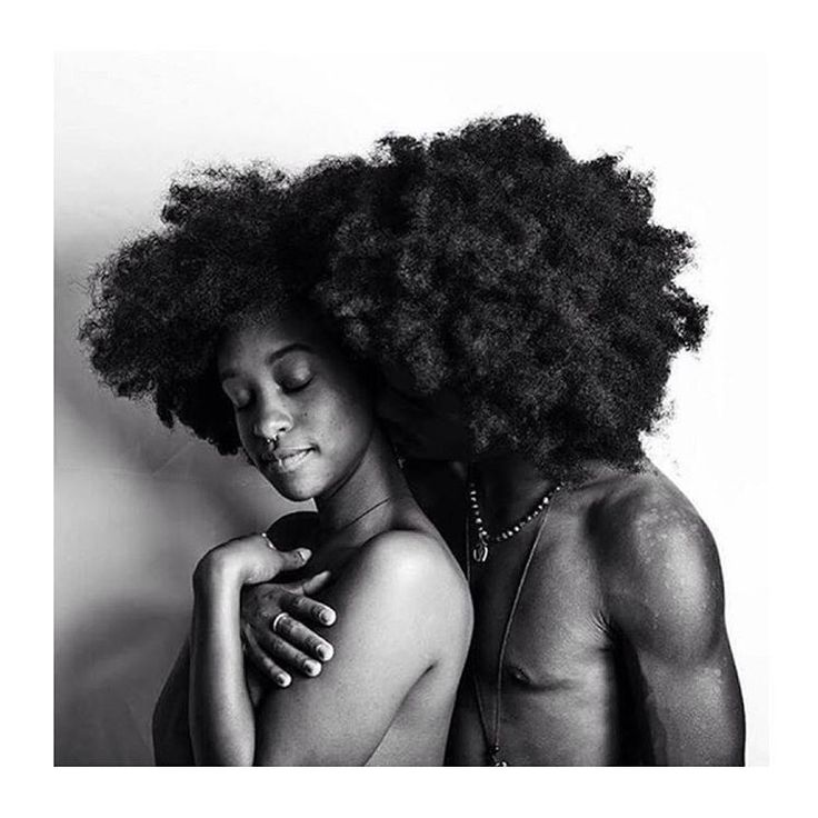 These cuties. Melanin love. Natural hair couple. Afro.