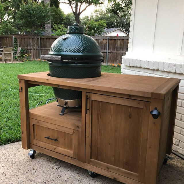 Custom Grill Table or Cabinet for Kamado Joe Big Green Egg Primo grills Customize your Outdoor Grill Island /& Beverage Bar