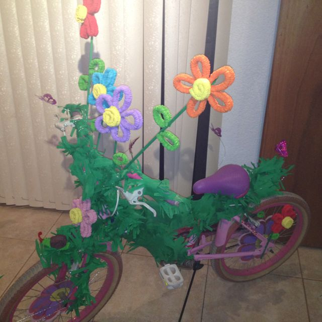 Decorated bike for spring holidays!