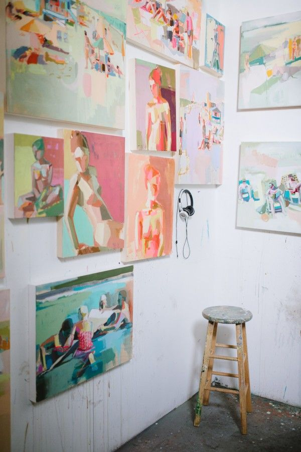 Teil Duncan's Colorful Studio