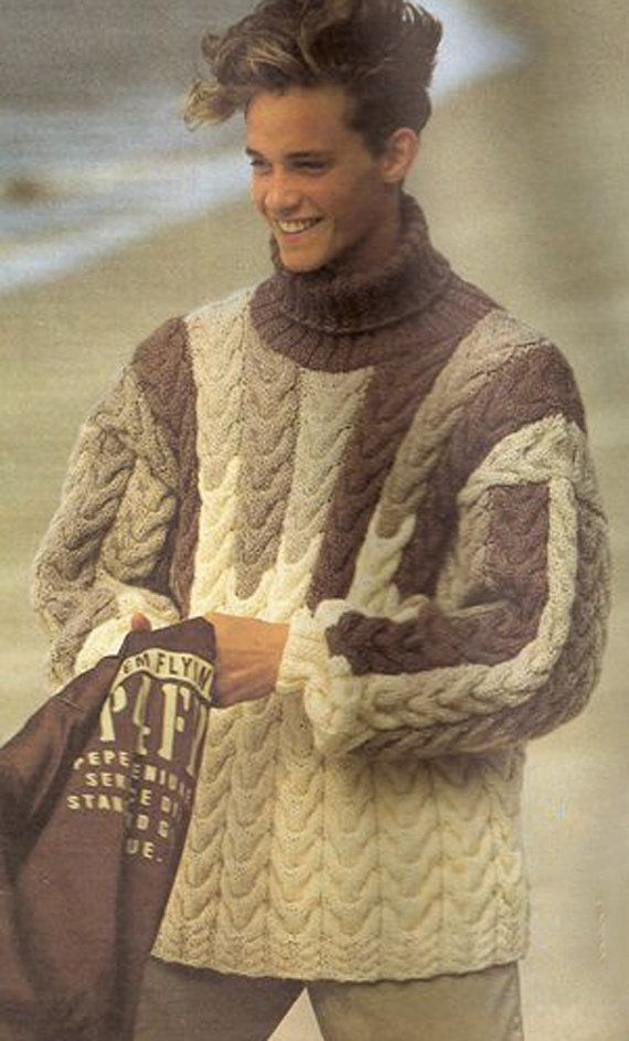 Knitting Mens Sweater : Best images about hand knit sweaters etsy on pinterest