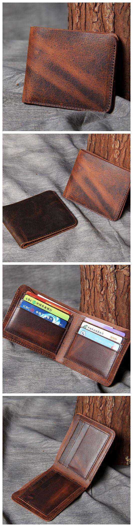 Mens Wallet, Leather Wallet, Classic Bifold Wallet, Personalized Wallet, Wedding Gift OAK-011
