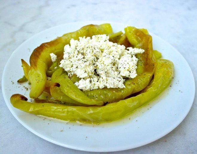 Easy Greek spicy green pepper appetizer
