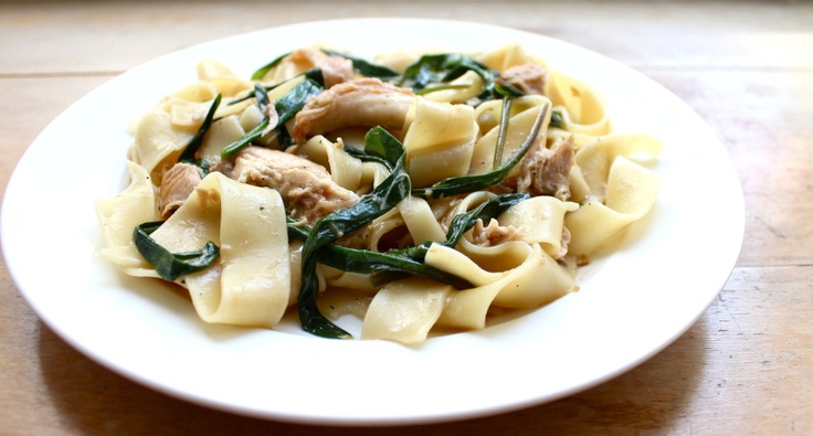 Pappardelle with Rabbit, Ramps, and Spring Garlic