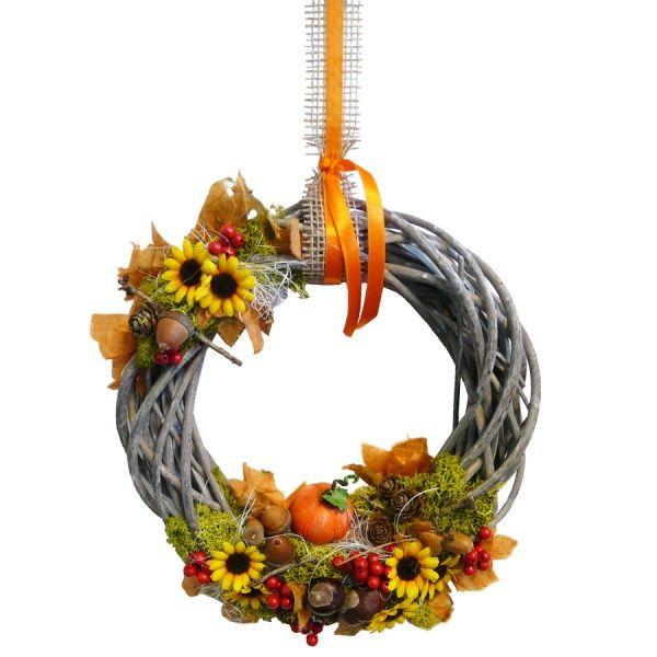 #Herbstdeko basteln, #Kranz basteln, herbstliche
