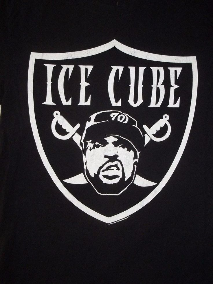 ICE CUBE Raiders shirt size L Hip Hop Rap NWA Officially Licensed  #WeLoveFine