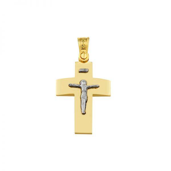 Σταυρός Al'oro χρυσός Κ14