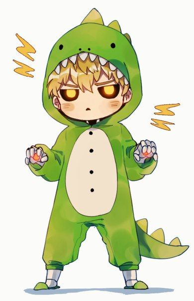One Punch Man - Chibi Genos (M: my heart is melting soo cute)