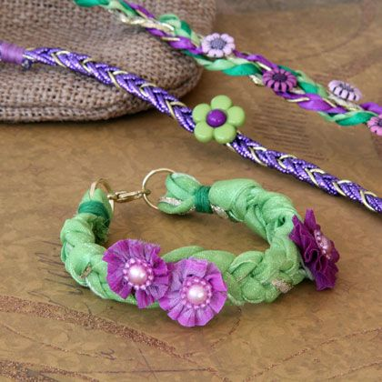 Inspired by Rapunzel's stylishly plaited do, these whimsical flower-laced bracelets are a blast to make and give as gifts.