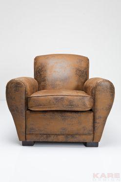 Lounge chair whiskey vintage eco at kare furniture vintage