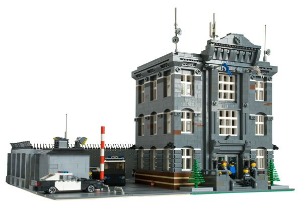 lego police station moc | Courtesy Police Department by Dark-Alamez